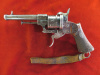 Pinfire Double Action Revolver, 9mm-silver inlay---$1150.00